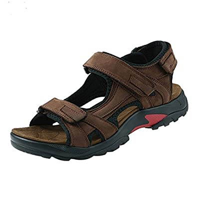 Mens Leather Sandals Athletic And Outdoor Shoes Amazoncouk Shoes