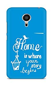 AMEZ home is where your story begins Back Cover For Meizu MX5