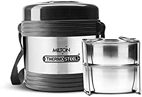 Milton Thermosteel Legend 2 Lunch Box (EC-THF-TTS-0003_Silver)