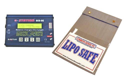 Deluxe Bundle: (1) Bantam Bc6-Dc Balancing Lipo Charger + (1) Lipo Safe Flame Retardant Charging/Storage Bag