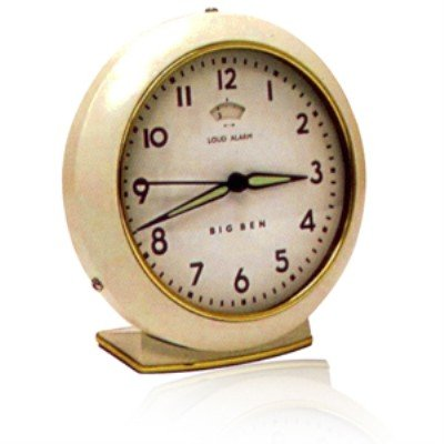 Westclox 1949 Big Ben Quartz Cream Alarm Clock