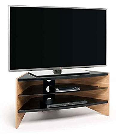 39.37 in. Corner TV Stand in Light Oak