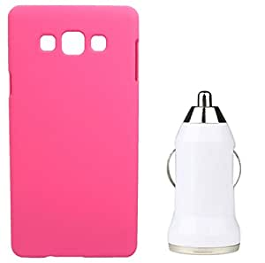 Toppings Hard Case Cover With Car Charger For Samsung Galaxy Grand Prime - Pink