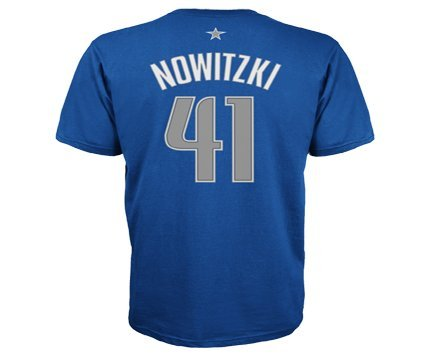 Dallas Mavericks Dirk Nowitzki Adidas Nba Player T Shirt X-Large / Navy Blue