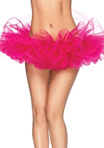 Leg Avenue Women's Organza Tutu, Hot Pink, One Size