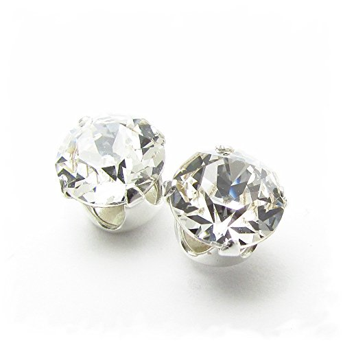 SILVER STUD EARRINGS MADE WITH SPARKLING SWAROVSKI