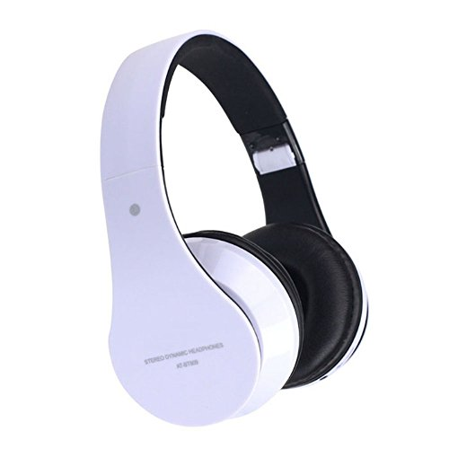 Doinshop Foldable Wireless Bluetooth Stereo Headset Mic For Iphone Samsung Htc (Cute White)