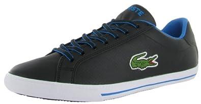 Lacoste Men's Grad Large Croc Sneaker 13.0 M Black/Blue