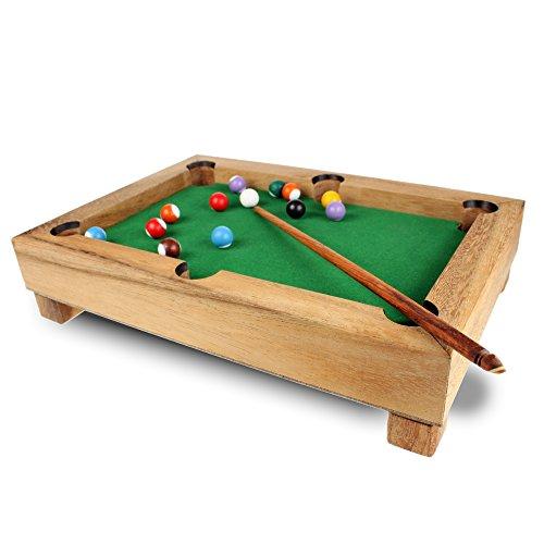 Mini-Billardtisch-aus-Edelholz-Standard-Gadget-fr-Zuhause-Geschicklichkeitsspiel-als-Geschenk-Idee-Tischbillard-Mae-ca-29-x-20-x-6-cm