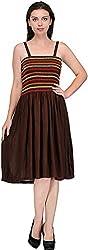 JH Mart Women's Cocktail Dress (JHDRS1016_Brwn_M, Brown, M)