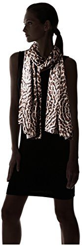 Roberto-Cavalli-Womens-Feather-Silk-Scarf-Brown-Multi
