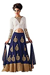Clickedia Women's Silk Lehenga Choli(M1547 blue Lehenga suit_blue_Free Size)
