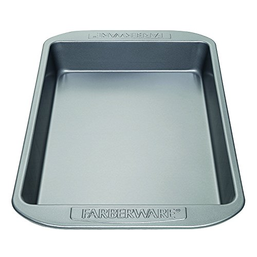 Farberware Nonstick Bakeware 9-Inch x 13-Inch Rectangular Cake Pan, Gray (Farberware Nonstick Baking Pans compare prices)