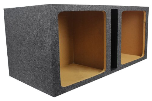 "Rockville Rdvk15 Dual 15"" Vented Square Subwoofer Enclosure Designed For 15"" Square Subs Such As The Kicker Solo L7/L5/L3 Series - Made In America Using Only The Highest Quality Materials For The Best Performance And Sound From Your Subs"