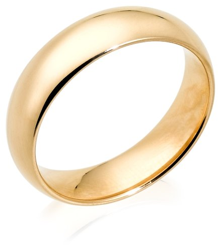 14k Yellow Gold 6mm Comfort Fit Men's Wedding Band