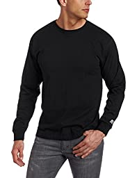 Russell Athletic Men\'s Basic Cotton Long Sleeve Tee, Black, X-Large
