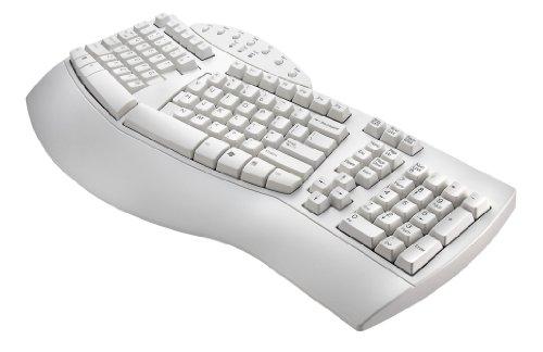 [wireless keyboards],Perixx PERIBOARD-512W, Ergonomic Split Keyboard - White - Natural Ergonomic Design - Wired