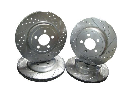 2006-2013 Dodge Charger R/T V6 Awd Front & Rear Brake Disc Rotors +Pads
