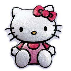HELLO KITTY Cat Glittery Plastic Cake Topper Decoration Decor 2D Pop Top