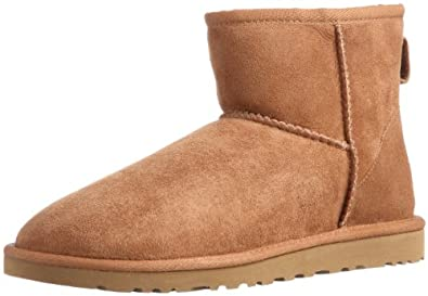 UGG Australia Womens Classic Mini Chocolate Boot - 8