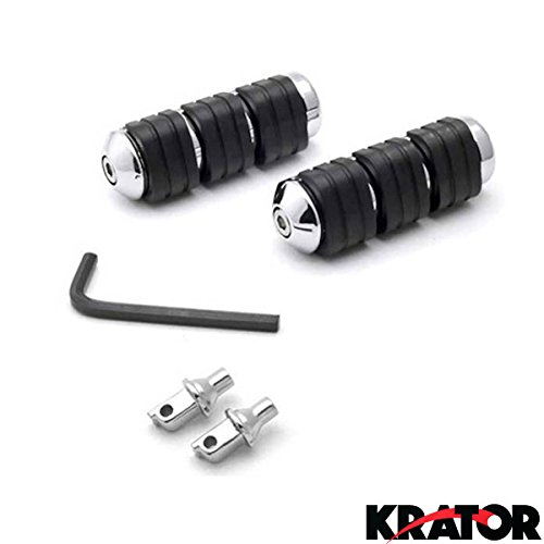 Krator Rear Foot Pegs Motorcycle Cruiser Footrests L & R For 2003-2009 Honda VTX 1300R/S/T (2005 Honda Vtx 1300r Accessories compare prices)