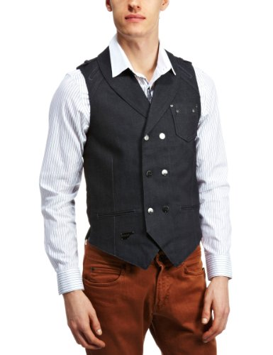 Goldspun English Men's Vest Blue Large