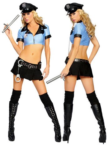 Sexy Fantasy Female Adult Police Officer Costume - MEDIUM/LARGE
