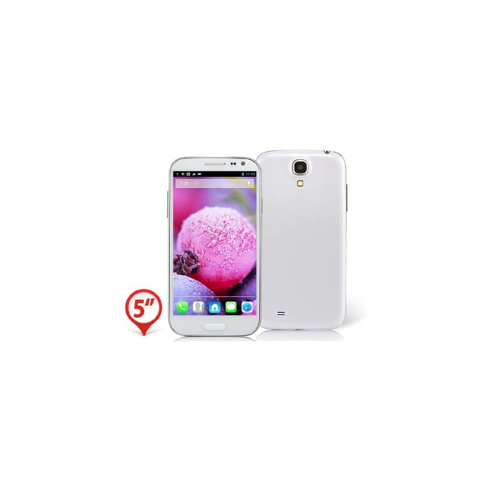 """OnceAll Haipai A9500 5.0"""" Capacitive IPS Touch 960x540 Android 4.2 Quad Core MTK6589 1.2GHz 1GB RAM & 4GB ROM 3G Smartphone Phablet with GPS/A GPS, Dual Camera (White) Cell Phones & Accessories"""