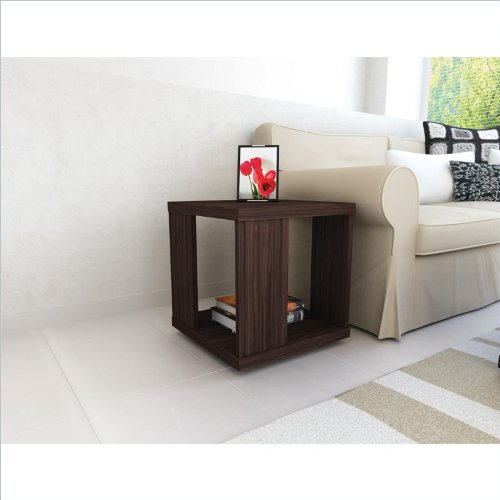 Sonax Contemporary Ebony Pecan End Table