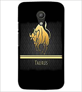 PrintDhaba Zodiac Taurus D-4295 Back Case Cover for MOTOROLA MOTO G2 (Multi-Coloured)