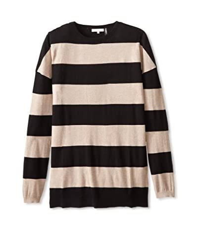 Minnie Rose Women's Stripe Sweater