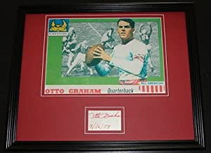 Otto Graham Signed Framed 11x14 Photo Display Cleveland Browns Northwestern C by The Steel City Auctions Gallery