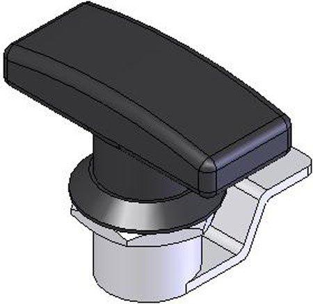 3/4 Grip Range, Emka Locking Black Polyamide, T-Handle, Heavy Duty NEMA 4 Rated 1/4 Turn Latches (1 Each) connector hs12rd 4 71