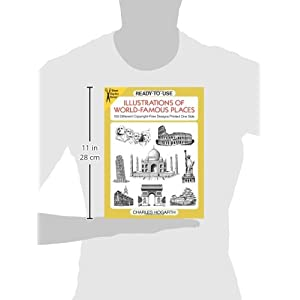 Ready-to-Use Illustrations of World-Famous Places: 109 Different Copyright-Free Designs Printed One Side (Dover Clip Art Ready-to-Use)