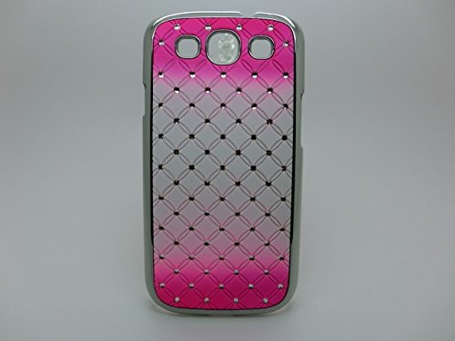 Maclogy 2014 Latest Fashion Design Luxury Dazzling Rhinestones Shiny Crystal Diamond Plating Protective Shell Trapped Difficult Cases Gradient Series Samsung Galaxy S3 I9300 And Fashion Chain Crystal Ornaments Color Uv Radiation Gifts(Pink)