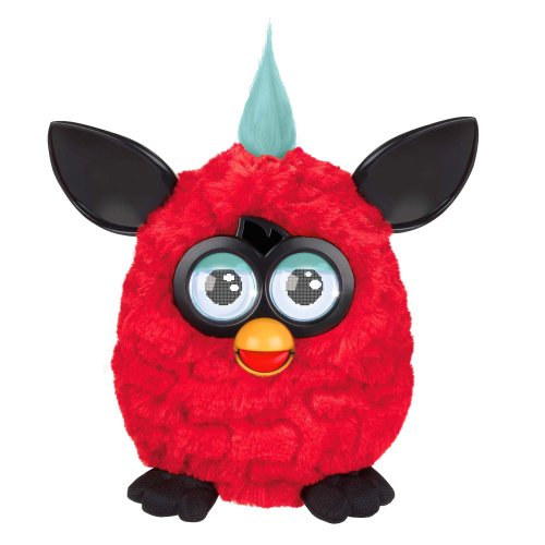 412uHKIaGuL Furby Plush, Red/Black