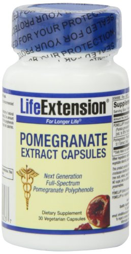 Life Extension Pomegranate Extract Vegicaps, 30-Count