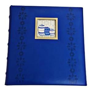 C.R. Gibson Recipe Cards Cookbook Scrapbook Album Pocket Page Kitchen Recipe Binder Blue