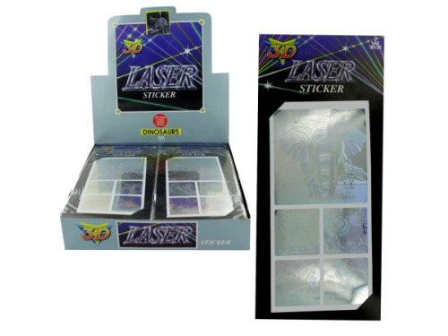 Space 3D Laser Stickers, Choice of Five Designs - Case of 72