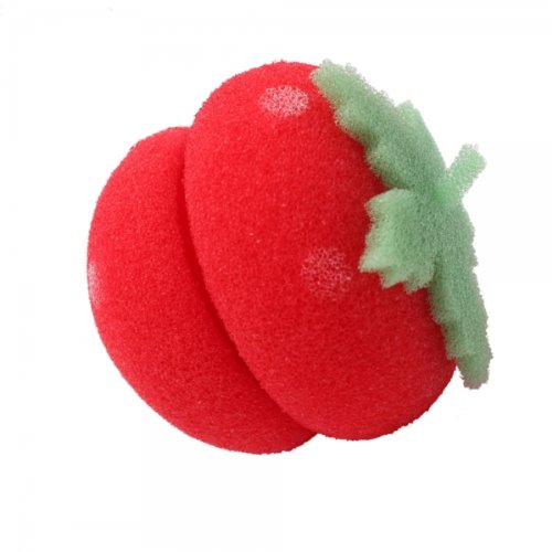 Strawberry Ball Soft Sponge Hair Care Rollers Curlers Large Red