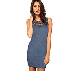 TS LifeStyle Fashion Bodycon Dress for Women's Grey, Black Dress