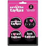 (1x1) Save the Tatas - Tata Collectors Button Pin Set