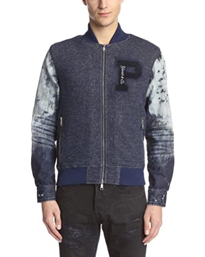 PRPS Goods & Co. Men's Denim Sleeve Varsity Jacket