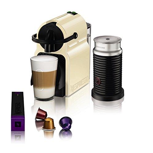 Magimix Nespresso Inissia Coffee Machine with Aeroccino, Cream