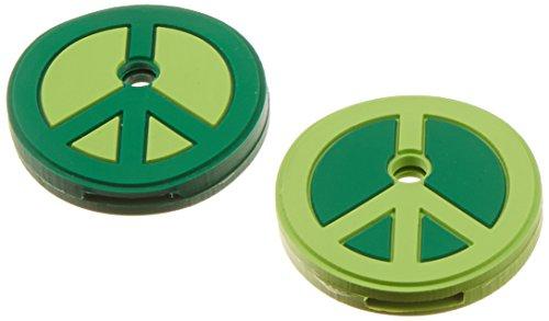 Kikkerland KR79-A Assorted Colors Peace Key Caps, Set of 2