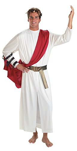 Disguise Mens Greek God Roman Caesar Toga Theme Party Fancy Costume