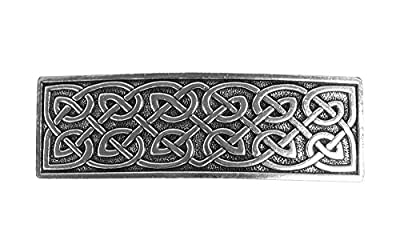 Large Celtic Hair Clip | Hand Crafted Metal Barrette Made in the USA with imported French Clips By Oberon Design ...