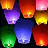 Set of 20 Mix Colors Chinese Sky Fly Fire Lanterns Wish Party Wedding Birthday Multi Color