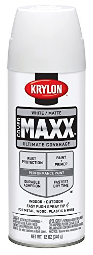 Krylon K09197000 COVERMAXX Spray Paint, Matte White New (White Paint Outdoor Wood compare prices)