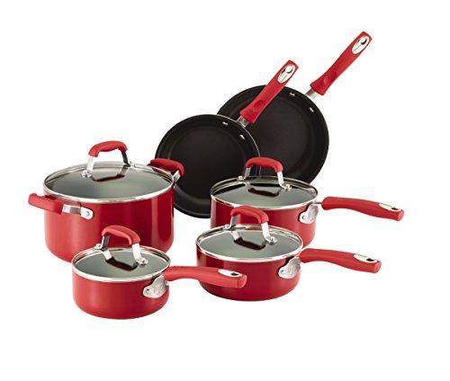 Guy Fieri 10-Piece Non-Stick Cookware Set (Red)
